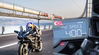 Download KAWASAKİ H2R TOP SPEED RECORD 0-400km/h 26 second. Video
