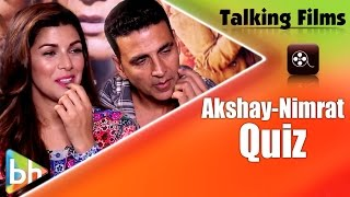 Download Akshay Kumar | Nimrat Kaur's HILARIOUS Talking Film Quiz | How Well Do They Know Each Other? Video