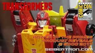 Download Transformers Power of the Primes product reveals at SDCC 2017 Video