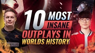 Download 10 Most INSANE OUTPLAYS In Worlds History - League of Legends Esports Video