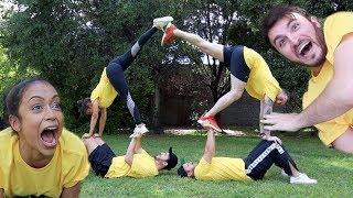 Download GIRLFRIEND TEACHES VLOG SQUAD ACROBATICS!! Video