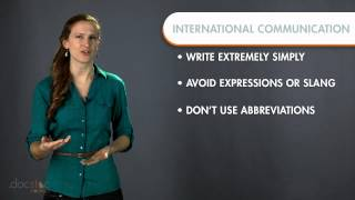 Download International Communication Language Barriers - Business Writing & Grammar Video
