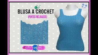 Download BLUSA A CROCHET (PUNTOS INCLINADOS). | Labores Angélika | Video