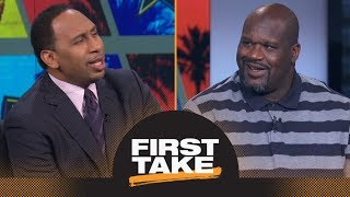 Download Shaq riles Stephen A. up by saying LeBron James should join Warriors | First Take | ESPN Video