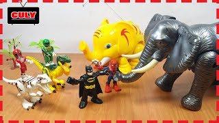 Download 2 Anh em siêu nhân tí hon đi bắt con voi khổng lồ power rangers toy for kids đồ chơi trẻ em Video