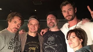 Download Avengers Cast Gets MATCHING Tattoos in Honor of Franchise Video