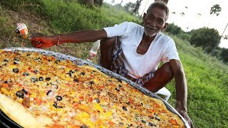 Download Pizza | Domino's Chicken Pizza | Chicken Pizza Cooking by our grandpa for 100 Orphan kids Video