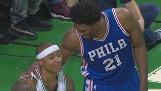 Download Isaiah Thomas Loses Shoe! Joel Embiid Dunks! Al Horford Clutch 3 76ers vs Celtics Video