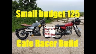 Download SMALL budget cafe racer 125 BUILD Video