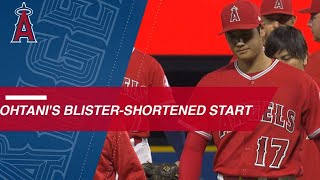Download Shohei Ohtani twirls 4 innings, exits with a blister Video