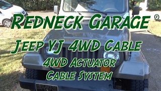 Download Jeep YJ Wrangler - 4WD Cable Lock Kit - Dr Bill !! Video