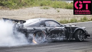 Download Mad Mike in Twin Turbo 4 Rotor RX-7 Wins Formula Drift Japan Video