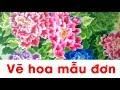Download Vẽ hoa mẫu đơn đẹp - Cách vẽ hoa mẫu đơn - Clip trẻ thơ Video