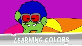Download Learning colors with Om Nom - Coloring Book - Disco Era Video