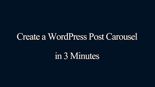 Download How to create a WordPress post carousel Video