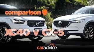 Download Volvo XC40 v Mazda CX-5: Size and value! Video