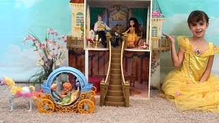 Download Princess Story: Princess Play Date with Anna and Elsa, Beauty and the Beast Castle, Belle Toys Video