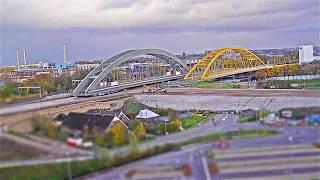 Download Timelapse: Inschuiven spoorbrug Amsterdam-Rijnkanaal deel I Video