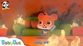 Download Help! Elephant Firefighter | Whisker's House is on Fire | Kids Role Play | BabyBus Video