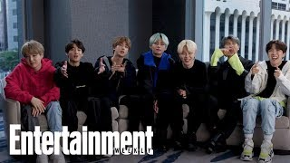 Download BTS: The K-pop Group Reveal Their Go-To Karaoke Songs, First Concerts & More | Entertainment Weekly Video