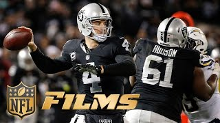 Download Derek Carr Mic'd Up for Raiders OT Win (Week 16) | Chargers vs. Oakland | NFL Films ″Sound FX″ Video