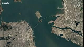 Download Google Timelapse: San Francisco - Oakland-Bay Bridge, California Video