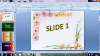 Download Hướng Dẫn chèn hình ảnh vào slide và tạo hiệu ứng chuyển tiếp slide PowerPoint 2007 Video