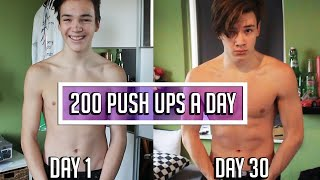 Download 200 PUSH UPS A DAY FOR 30 DAYS CHALLENGE - Body Transformation RESULTS Video