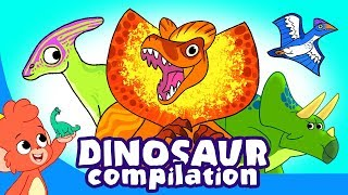 Download Learn Dinosaurs for Kids | Dinosaur Cartoon videos | t-rex velociraptor | Club Baboo Video