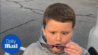 Download Boy sees colour for the first time - Daily Mail Video