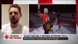 Download Oilers fans belt out U.S. anthem after mic fails Video