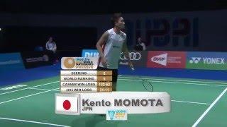 Download Dubai World Superseries Finals 2015   Badminton F M4-MS   Viktor Axelsen vs Kento Momota Video
