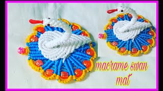 Download How to make macrame swan mat easy and unique design/macrame table mat Video