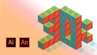 Download Flux créatif : fonte isométrique et animée entre Illustrator et Animate.   Adobe France Video