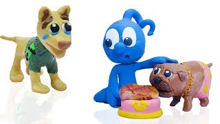 Download CLAY MIXER: RICH DOG POOR DOG 💖 Play Doh Cartoons For Kids Video
