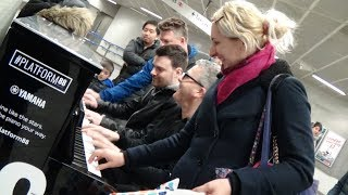 Download Four Random Strangers Jam On A Public Piano Video