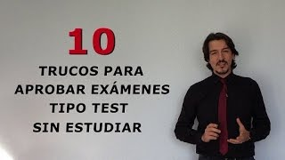 Download 10 trucos para aprobar exámenes tipo test sin estudiar Video