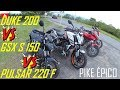 Download KTM DUKE 200 Vs SUZUKI GSX S 150 Vs PULSAR 220 F|🏍️🏍️🏍️🔥🔥 | PIKE EPICO en IBAGUÉ Video