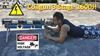 Download Coilgun 3 stage 1600J - Project Complete Video