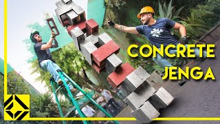 Download Cinder Block Jenga is Extremely Dangerous! Video