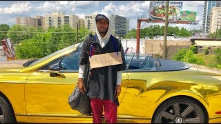 Download HOMELESS in GOLD BENTLEY Gold Digger Prank Social Experiment Video