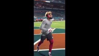 Download Odell Beckham Jr. Practices One-Handed Catch (Pre-Game) | Giants vs. Dolphins | NFL Video