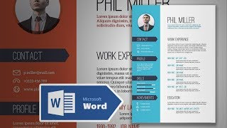 Download How to Create an Elegant Simple Resume in Microsoft Word | CV Design Tutorial Video