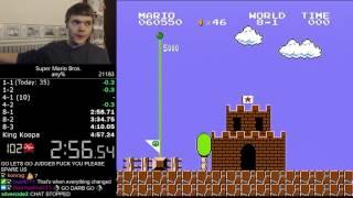 Download (4:56.878) Super Mario Bros. any% speedrun *Former World Record* Video