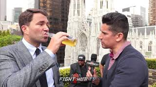 Download EDDIE HEARN ″JOSHUA WANTS THE FIGHT IN THE UK, FEELS HE WON THE RIGHT″ LOOKS TO SIGN WILDER, SPENCE Video