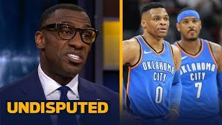 Download Shannon Sharpe blames Russ and Melo for Thunder blowing late lead vs Celtics | UNDISPUTED Video