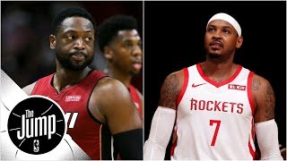 Download Dwyane Wade says Rockets making Melo 'fall guy,' LeBron says he deserves better | The Jump Video