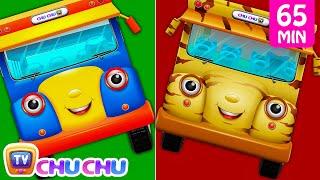 Download Wheels On The Bus Farm Animals, Wild Animals, London, New York & Lots More Nursery Rhymes   ChuChuTV Video
