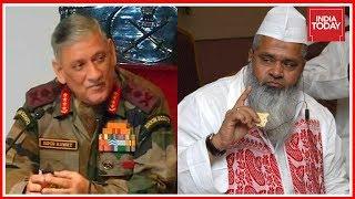 Download AIUDF Leader Badruddin Ajmal Slams Army Chief Over Immigration Remark Video