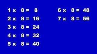 Download De tafel van 8 leren tafeltjes tafels leren Video